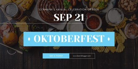 Traditional Oktoberfest treat Image Design Template