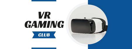 Plantilla de diseño de Modern Virtual Reality Glasses Facebook cover