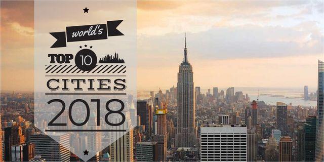 Designvorlage New York City View für Twitter