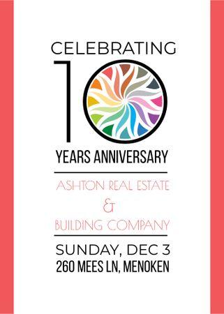 Plantilla de diseño de Celebrating company 10 years Anniversary Flayer
