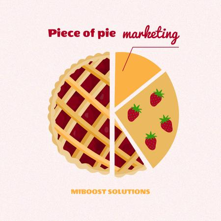 Modèle de visuel Funny Joke about Marketing with Pie Illustration - Instagram