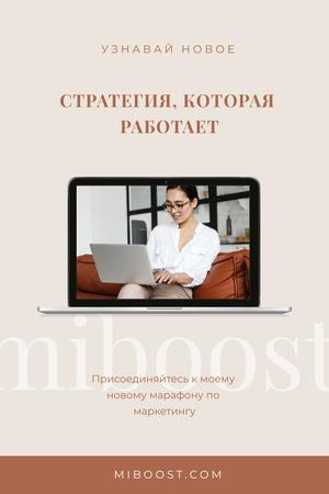 Marketing Professional working in office Pinterest – шаблон для дизайна