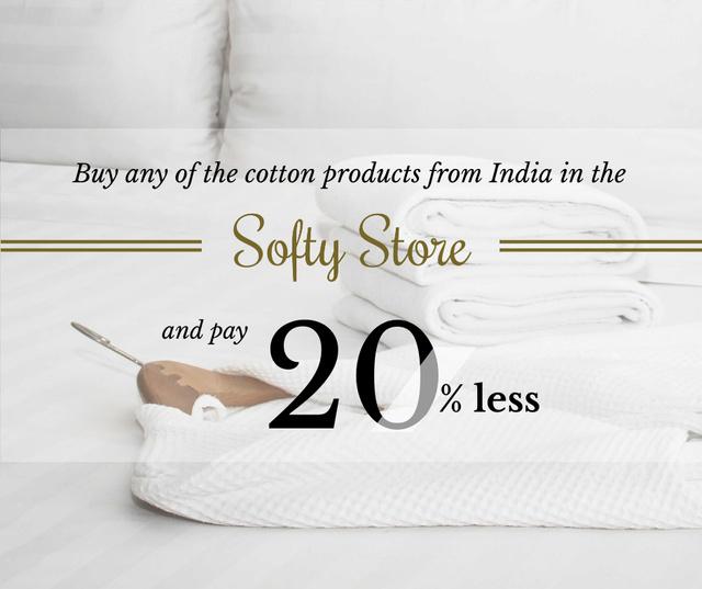 Modèle de visuel Textile Pillows Offer in White - Facebook