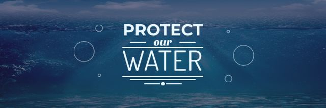 Plantilla de diseño de Water protection Motivation Email header