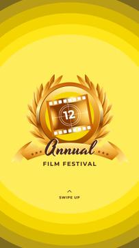 Film Festival golden frame