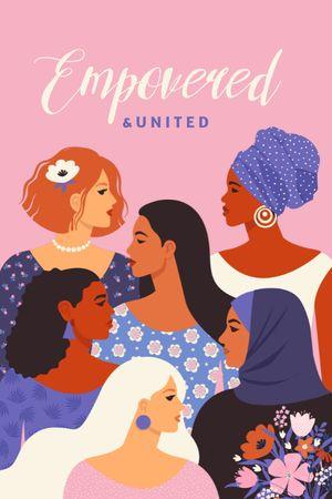 Girl Power Inspiration with Diverse Women Tumblr tervezősablon