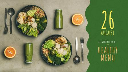 Healthy Food Offer with Vegetable Bowls FB event cover Design Template