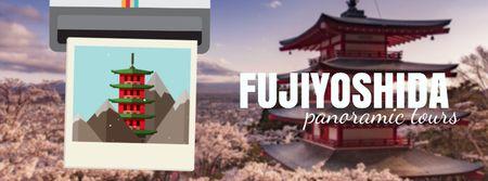 Modèle de visuel Fujiyoshida famous Travelling spots - Facebook Video cover
