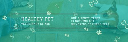 Healthy pet veterinary clinic Twitterデザインテンプレート