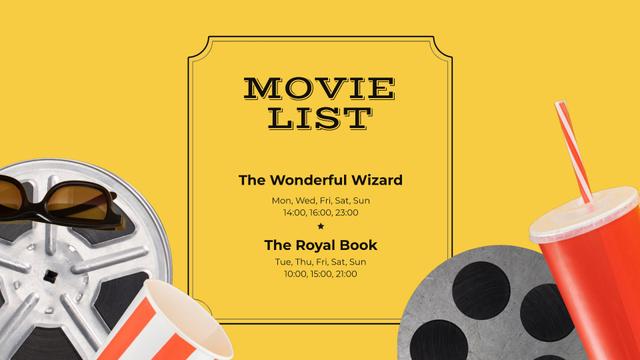 Plantilla de diseño de Movie Night Invitation with Popcorn Full HD video
