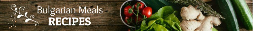 Meal Recipe Vegetables on Table Leaderboard Modelo de Design