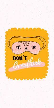 Ontwerpsjabloon van Graphic van Mental Health Inspiration with Cute Eye Mask