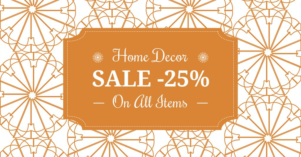 Home decor sale ad with floral texture — Створити дизайн