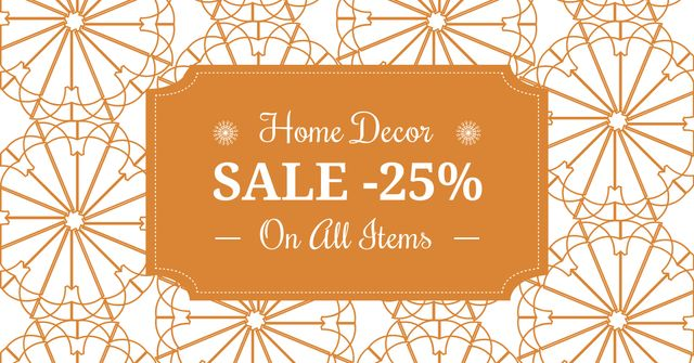 Modèle de visuel Home decor sale ad with floral texture - Facebook AD