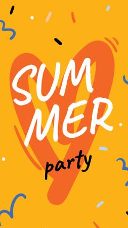 Designvorlage Summer Party Announcement with Orange Heart für Instagram Story