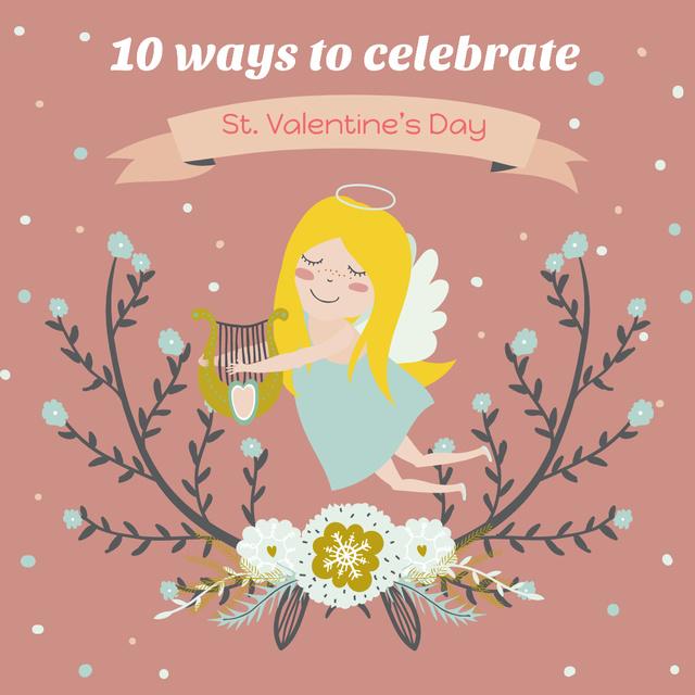 Szablon projektu Valentine's day greeting with Angel Instagram AD