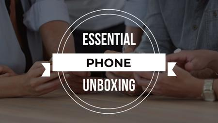 Plantilla de diseño de Unboxing Promotion People with Smartphones Youtube Thumbnail
