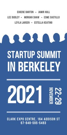 Plantilla de diseño de Startup Summit Announcement Businesspeople Silhouettes Graphic