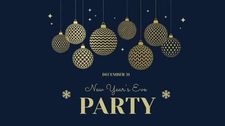 Designvorlage New Year's Eve Party Announcement für FB event cover