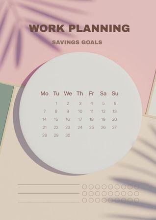 Work Goals Planning Schedule Planner – шаблон для дизайна