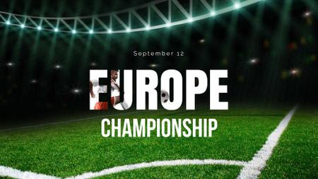 Football Championship Announcement with Sport Stadium FB event cover Design Template