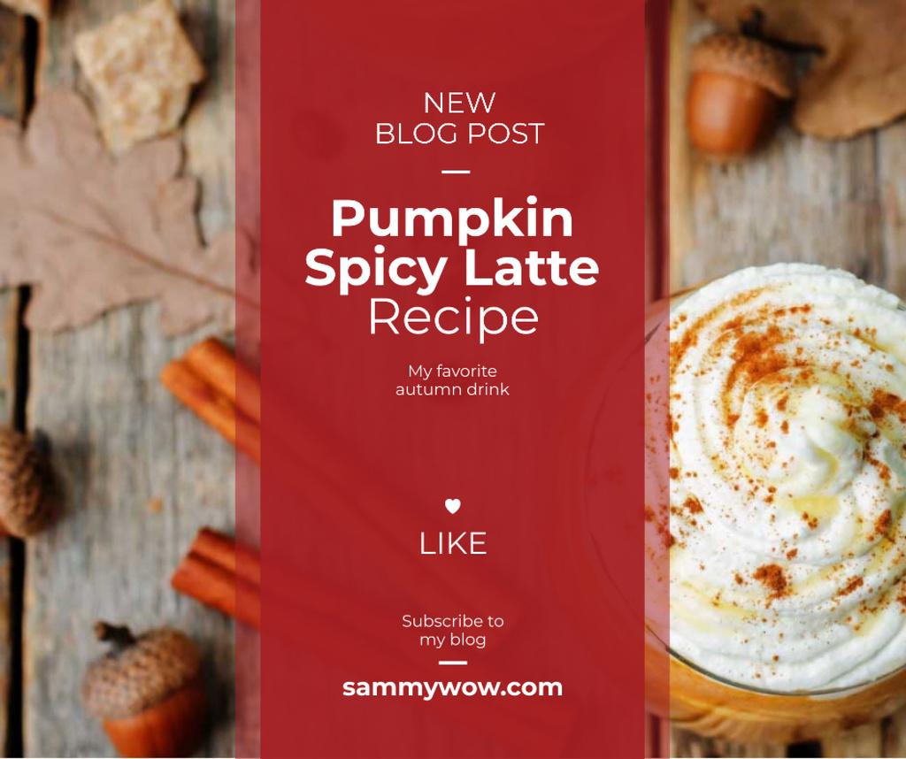 Modèle de visuel Pumpkin spice latte recipe - Facebook
