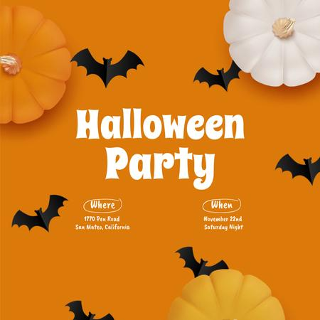 Halloween Party Announcement with Flying Bats Animated Post – шаблон для дизайна