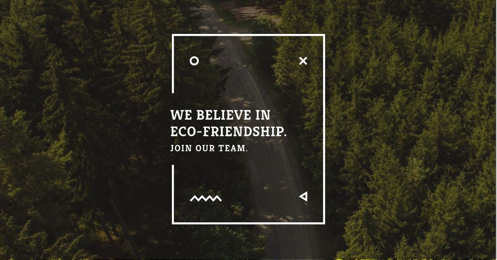 Eco-friendship concept in forest background — Créer un visuel