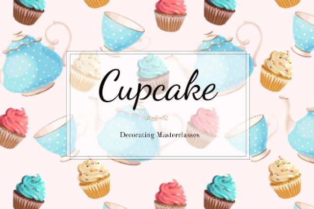 Cupcakes Decorating Masterclasses Offer Gift Certificate Design Template