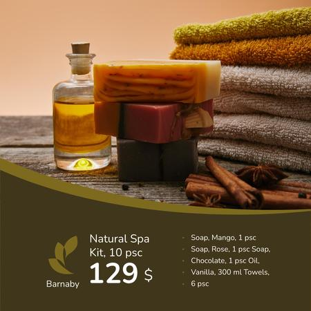 Template di design Natural Handmade Soap Shop Ad Instagram