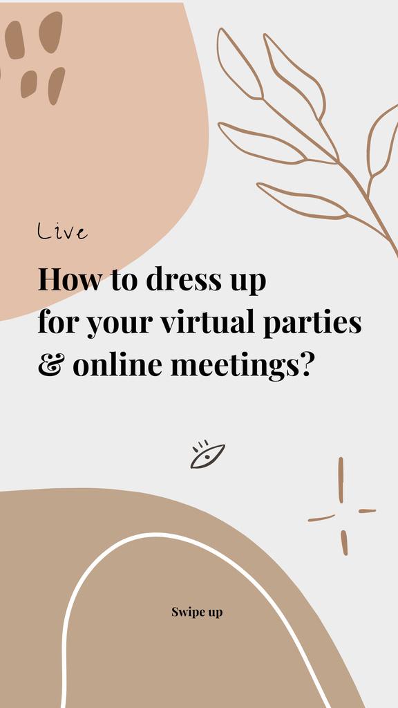Live Stream Topic about dressing for virtual parties — ein Design erstellen