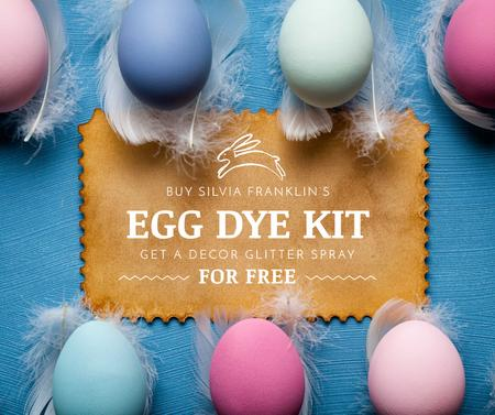 Plantilla de diseño de Egg dye kit sale for Easter Day Facebook
