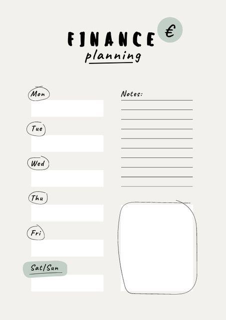 Weekly Finance Planning Schedule Planner – шаблон для дизайна