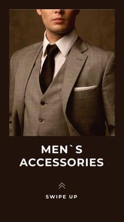 Ontwerpsjabloon van Instagram Story van Accessories Offer with Stylish Man