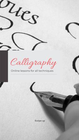 Ontwerpsjabloon van Instagram Story van Calligraphy Learning Offer