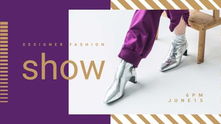 Designvorlage Fashion Show Announcement with Stylish Female Shoes für FB event cover