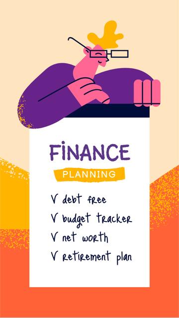 Finance Planning Tips Instagram Story Modelo de Design