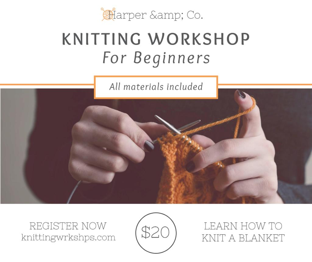 Woman knitting Blanket at Knitting Workshop - Bir Tasarım Oluşturun