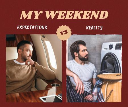 Joke about Weekend plans with Man Facebook – шаблон для дизайна