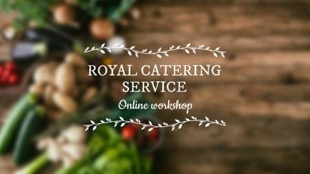 Ontwerpsjabloon van FB event cover van Catering Service Vegetables on table