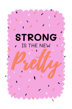 Inspirational Citation about Girl Power Pinterest Design Template