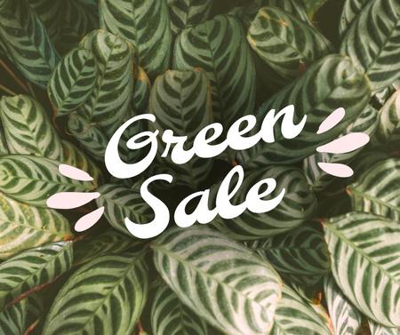 Modèle de visuel Plants Sale Announcement with Green Leaves - Facebook
