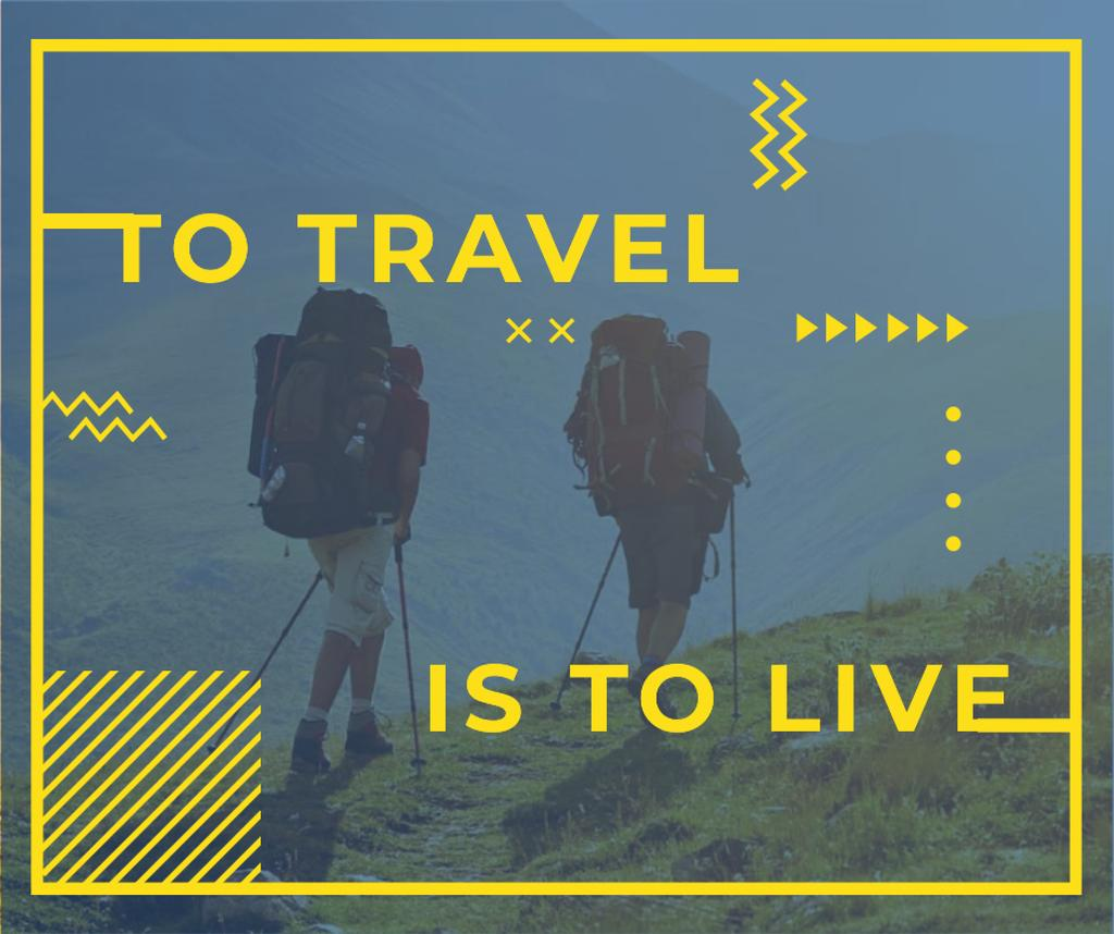 Travel Inspiration with Backpackers in Mountains — Создать дизайн