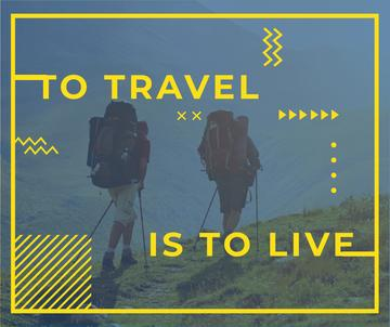 Travel Inspiration with Backpackers in Mountains