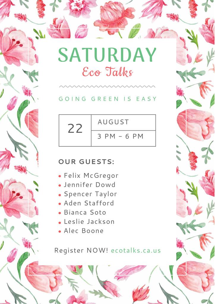 Saturday eco talks — Create a Design
