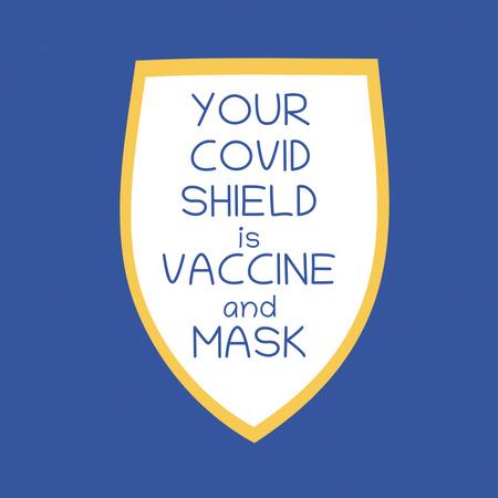 Coronavirus Vaccination Announcement Instagram Tasarım Şablonu