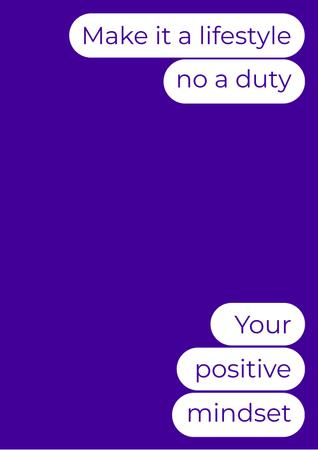 Cute Inspirational Messages Poster – шаблон для дизайну