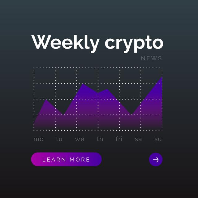 Weekly Cryptocurrency statistics Instagram Design Template