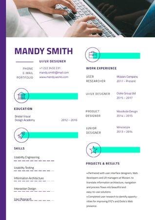 Professional Designer skills profile Resumeデザインテンプレート