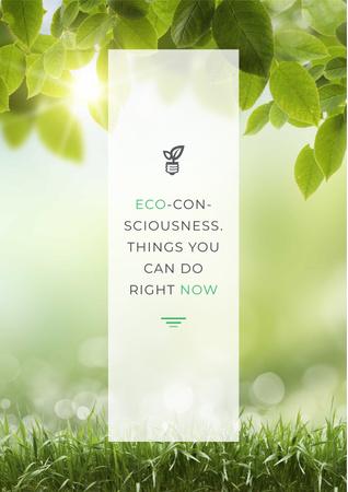 Eco-consciousness concept Poster Tasarım Şablonu